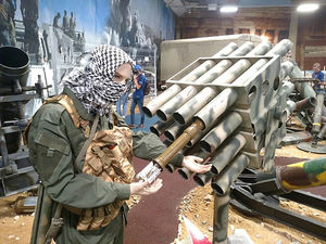 عکس/ نمایش تسلیحات داعش در روسیه