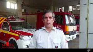 خسارت سنگین در حریق انبار کالای جنوب تهران
