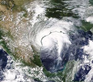 تصویر ماهوارهای ناسا از طوفان «هاروی» تگزاس