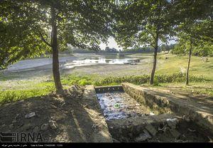 خشک شدن دریاچه طبیعی عباس آباد