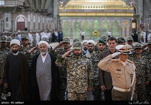 عکس/تجدید میثاق فرماندهان قرارگاه پدافند هوایی با امام راحل