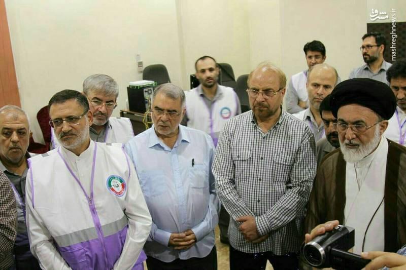 بازدید رئیس سازمان حج و قالیباف از اتاق کنترل عملیات حمل و نقل در مکه