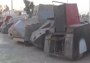 فیلم/ کشف خودروهای زرهی داعش در موصل