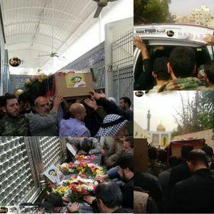 عکس/ تشیع پیکر شهید حججی در دمشق