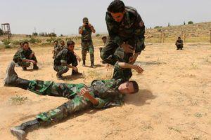 تمرین نظامی نیروهای مردمی سوریه