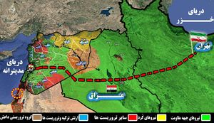 نبرد سرنوشتساز جبهه مقاومت و آمریکا در مرزهای مشترک عراق و سوریه/ آیا ارتباط زمینی تهران -بیروت-مدیترانه برقرار میشود؟ + نقشه میدانی