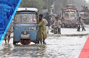فیلم/ باران شدید کراچی را زیر آب برد