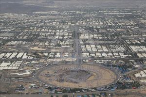 عکس/ نمای هوایی از کوه عرفات