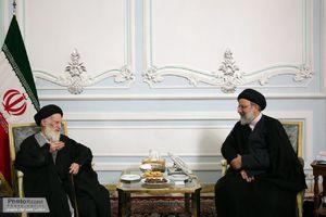 عکس/ دیدار آیت الله شبیری زنجانی با رئیسی