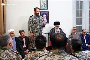 دیدار مسئولان قرارگاه پدافند هوایی با رهبر انقلاب
