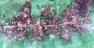 تصاویر ماهوارهای از تخریب ۷۰۰ خانه مسلمانان در میانمار