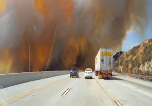 فیلم/ آتش سوزی بیسابقه در لس آنجلس