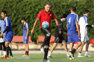 آخرین تمرین تیم ملی پیش از دیدار با سوریه