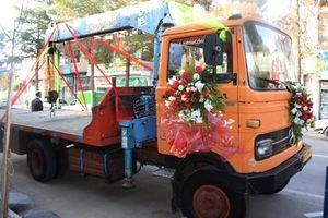 عکس/ کامیونی که ماشین عروس شد