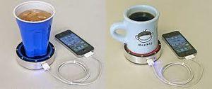 شارژ گوشی با قهوه داغ و آب یخ +عکس