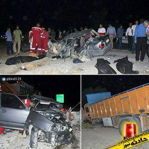 تصادف مرگبار کامیون با پراید +عکس
