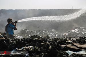 عکس/ آتش سوزی در اتوبان آزادگان