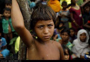 عکس/ اشک های بی صدای کودک روهینگیایی