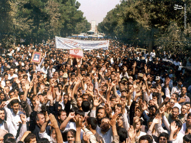 تشییع شهید اکبر آقابابایی در اصفهان