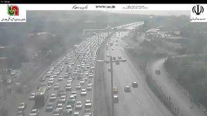 آزادراه تهران-کرج محدوده پل کلاک 16 شهریور ساعت 11:10