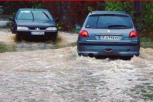 فیلم/ آب گرفتگی شدید در خیابان های لنگرود