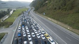 عکس/ ترافیک سنگین مسیر برگشت به تهران
