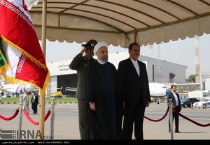 عکس/ بدرقه روحانی پیش از عزیمت به قزاقستان