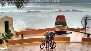 عکس/ سلفی با طوفان!