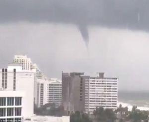 عکس/ لحظه ورود طوفان«ایرما» به فلوریدا