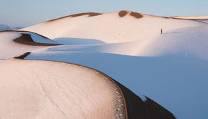 عکس/ کویر مرنجاب در برف!