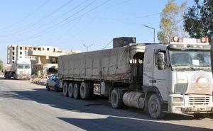 ارسال 41 کامیون حامل مواد غذایی برای مردم دیرالزور