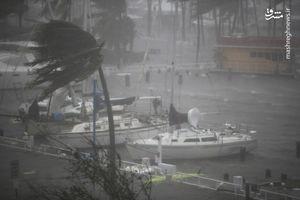 فیلم/ لحظه وقوع طوفان در میامی
