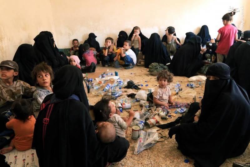 محل نگهداری زنان و فرزندان اعضای داعش در جنوب موصل