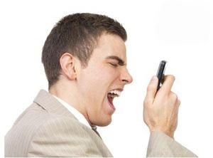 بلند حرف زدن با تلفن همراه!