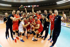 تصاویر دیدار والیبالیستهای ایران مقابل آمریکا