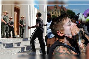 فیلم/ درگیری پلیس آمریکا با مردم برای تبرئه پلیس قاتل
