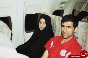 عکس/ کریم باقری در کنار مادرش