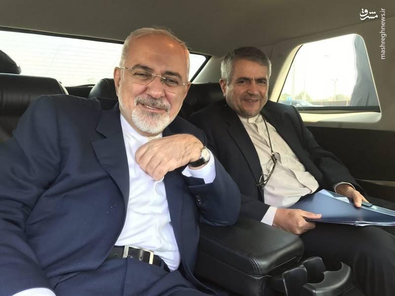 ظریف در انتظار روحانی در فرودگاه «جان اف کندی»