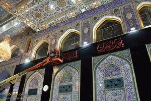 عکس/ سیاه پوش شدن حرم امام حسین(ع) در آستانه محرم