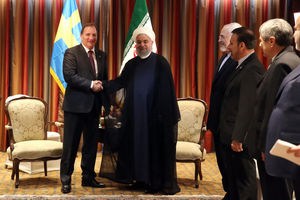 عکس/ دیدار نخست وزیر سوئد با روحانی