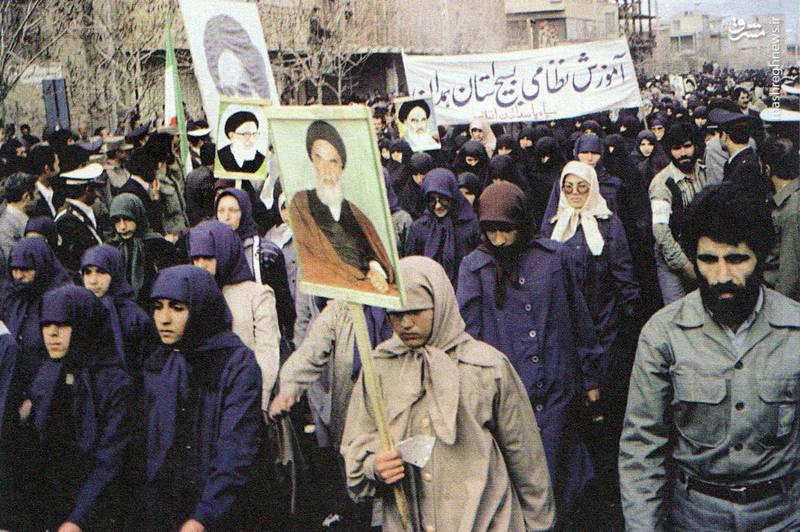 رژه زنان بسیجی در همدان