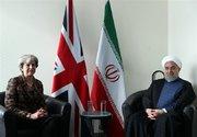 عکس/ دیدار روحانی با نخستوزیر انگلیس