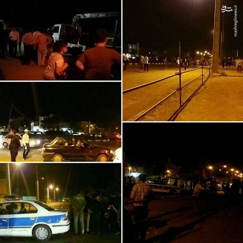 تصاویر آماده سازی محل اعدام قاتل آتنا اصلانی