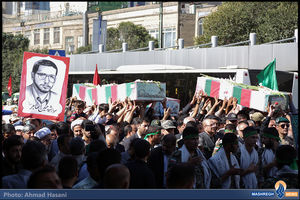 تشییع شهدای دفاع مقدس و مدافع حرم در مشهد