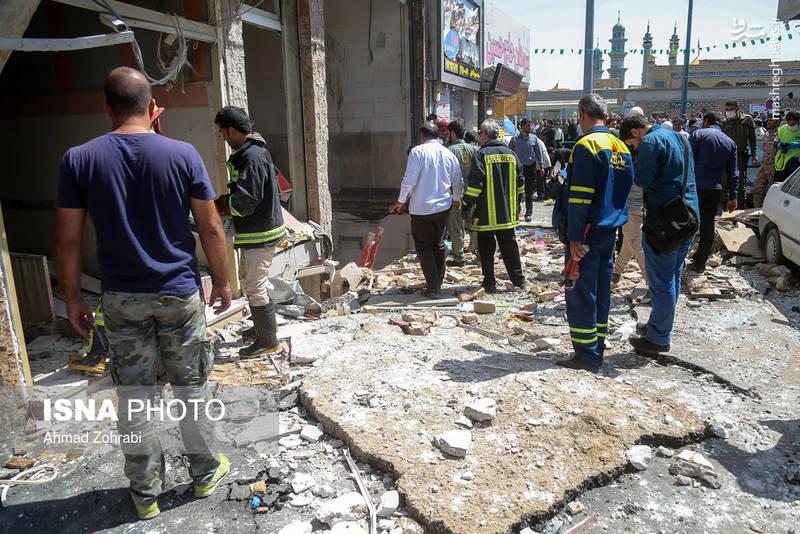 انفجار در یک واحد اقامتی اطراف حرم حضرت معصومه(س) - قم