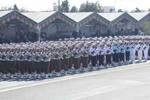 نمایش 19فروند موشک بالستیک در رژه/ حضور ۲ فرمانده جدید در غیاب ۳ فرمانده