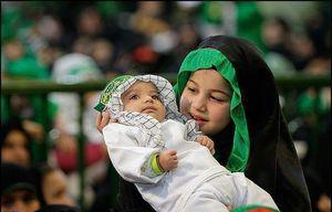 فیلم/ مراسم شیرخوارگان حسینی در مصلی تهران