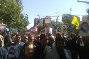 فیلم/ راهپیمایی نمازگزاران تهرانی علیه ترامپ
