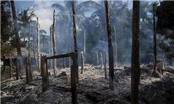 روستاهای مسلمانان روهینگیا در آتش میسوزند