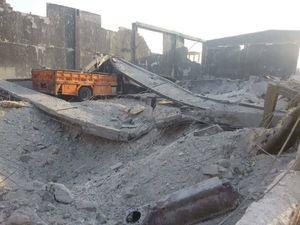 عکس/پادگان آموزشی جبهه النصره با خاک یکسان شد